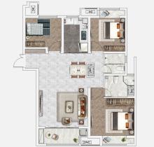 C1户型120㎡3室2厅2卫