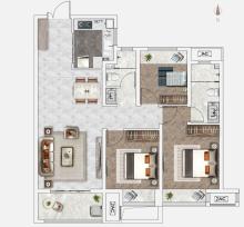 B2户型110㎡3室2厅2卫