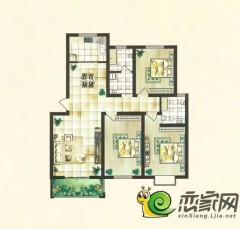(新乡县)新马金色森林3室2厅2卫121m²毛坯房