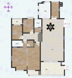 伟业中央公园16号楼4室223平米电梯入户房