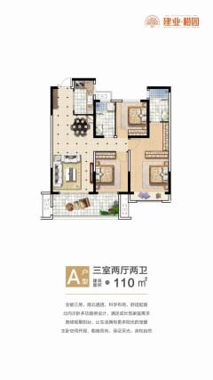 (新乡县)建业橙园3室2厅2卫55万125m²出售