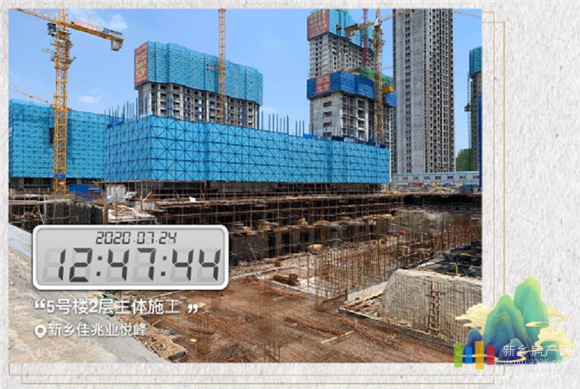 新乡房产网佳兆业悦峰工程进度实拍