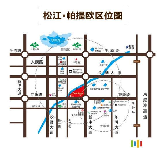 松江帕提欧区位图