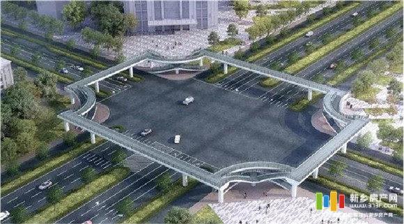 新乡第一座过街天桥