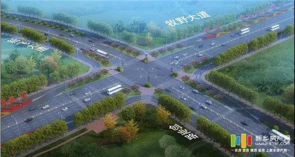 牧野大道、新飞大道、创业路三条道路北延工程