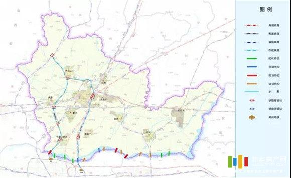 新乡市市域铁路网规划示意图