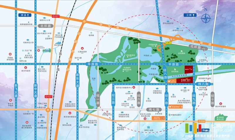 信合湖畔春天北苑区位图