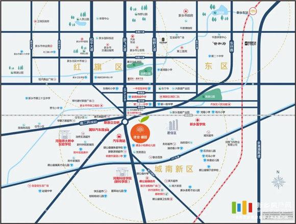 建业橙园区位图