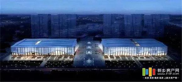 新乡平原(建业)体育中心效果图