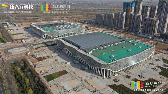 新乡平原(建业)体育中心航拍图