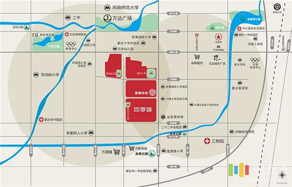 四季城区位图