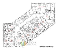 拉斐国际9#楼14-20层户型图