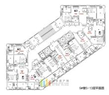 拉斐国际9#楼5-13层户型图