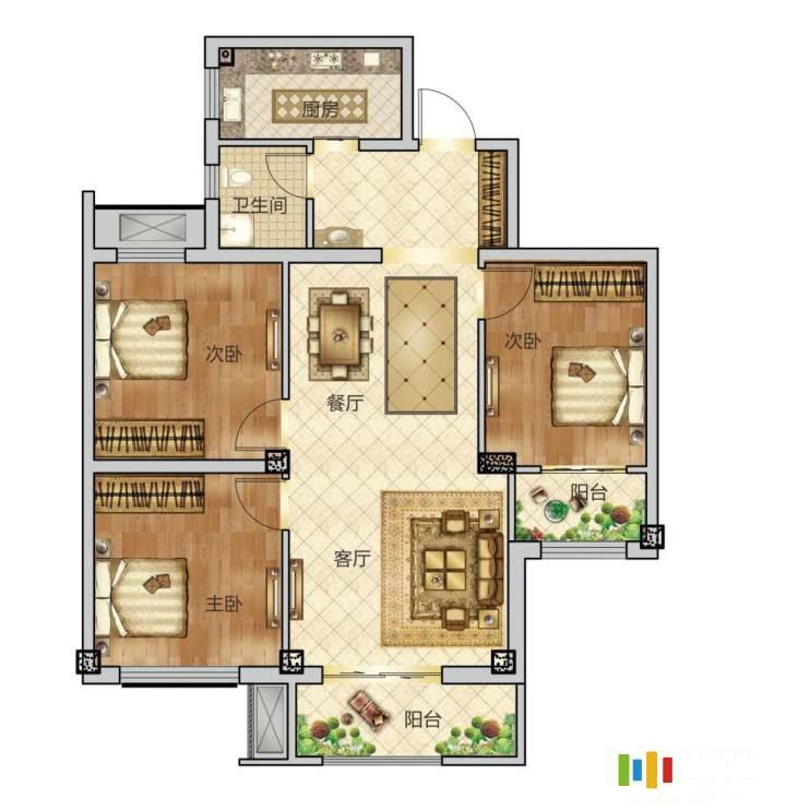 3室2廳1衛