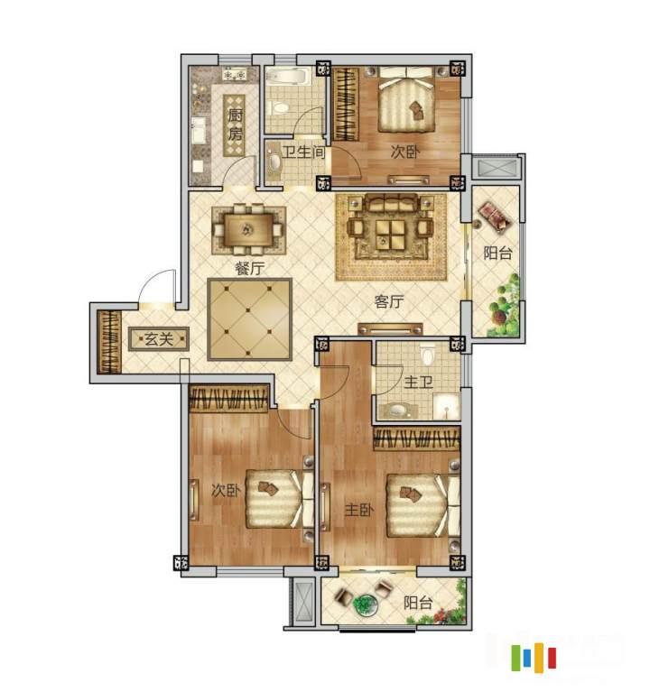 3室2廳2衛