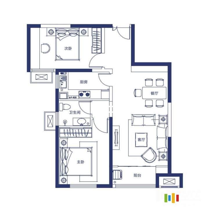 2室2廳1衛